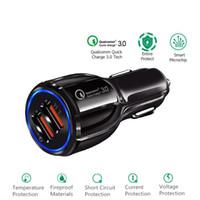Caricabatteria da auto veloce Caricabatteria da auto QC3.0 Caricabatteria rapido da auto Dual Charger 3.1A per smartphone con pacchetto