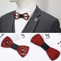 Fashion Adult Wooden Bow Ties Butterfly Men Party Bowtie Cos...