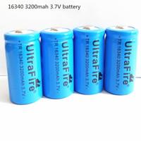 CR123 / blu batteria al litio UltraFire 16340 3200mAh 3.7V ricaricabile di trasporto