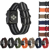 Cinturino in nylon di ricambio per cinturini Smart Watch Apple Iwatch Accessori per cinturini in tela loopback 38mm 42mm