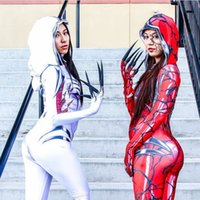 2019 nouveau venin femme anime cosplay collants pour le corps dames spiderman deux couleurs Marvel Gwenom Gwen Spide-rman