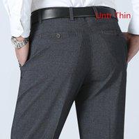 2017 Yeni Erkek Takım Elbise Pantolon Sunmmer tarzı Erkekler Elbise Pantolon untr ince ışık Pantolon Düz İş Mens Örgün Büyük Boyut
