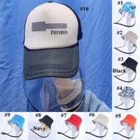 Face Shield Hat Plastic Anti Dust Clear Face Mask Fisherman ...