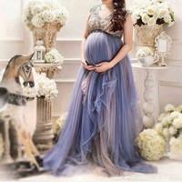 라벤더 플러스 사이즈 출산 이브닝 드레스 사용자 정의 파란색 캡 소매 파티 드레스 정장 댄스 파티 임신 가운