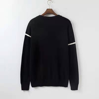 2020 New Men Moda camisola de manga longa Casual Pullover Masculino Outono em torno do pescoço dos retalhos de malha Camisolas Outwear Tops 8J0618