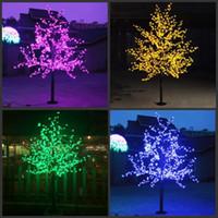 LED Искусственного Cherry Blossom Tree Light Свет Рождества 1152pcs Светодиодные лампы ого / 6.5ft Высота 110 / 220VAC непромокаемых наружное использование Бесплатной доставки