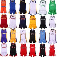 Top qualità mens squadra di pallacanestro uniforme vestito senza maniche top + shorts abbigliamento studenti Collage Training Camp di pallacanestro Jersey