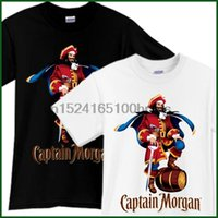 Captain Morgan Beer T Shirt Brewery Ale Promo Black White Ts...