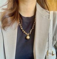Бренд панк ожерелье старинные Big U цепочки Chokers ожерелья для женщин готические ювелирные изделия металлические шариковые ожерелье цепи гот бижур 2020
