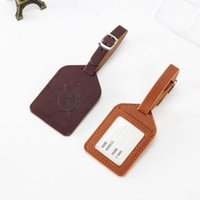 200pcs Portable Compass Leather Suitcase Luggage Tag Label B...