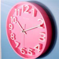 Colorful Simple Wall Clock Room 3D Silent Modern Design Wall Watch Living Room Digital 3d Duvar Saati Rainbow Clocks50WC