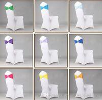 Lycra Spandex mariage couverture de chaise Sash bandes de mariage Parti président anniversaire boucle sashe décoration Couleurs disponibles YSY419-L