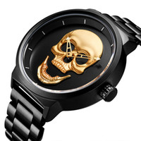 Montre à quartz Skull Quartz Mâle Wather Watch Militaires Militaires Montre Relogio Masculino