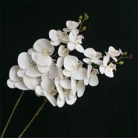 Toque real ORQUÍDEAS alta qualidade Latex flor da orquídea Flores artificiais Princesa da borboleta Orquídea Phalaenopsis para Centerpieces casamento
