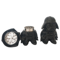 Smerigliatrici all'ingrosso 3 parti nero guerriero frantoio a base di erbe 63 * 90mm 129g freddo nero opaco in lega di zinco in acciaio inox smerigliatrice accessori per fumatori
