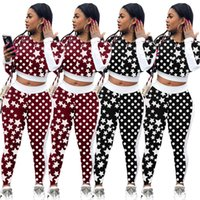 Wholesale polka dots pajama sets online - Clothing Sets Star Polka Dot  Print Tracksuits Long Sleeve e5fbf8849