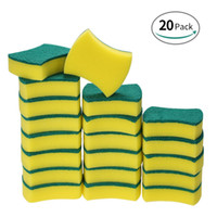 20pcs Sponge Scouring Pads Scrub Magic Eraser Cleaning Dish ...