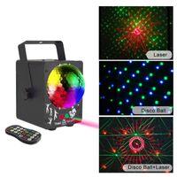 LED RGB Stage Luz DJ remoto luzes de discoteca 60 Patterns mini-projecteur lâmpada Efeito LED para iluminação de Natal bar partido de feriado, lâmpada interior