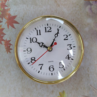 En gros 5 PCS Horloge À Quartz Insérer Or Couleur 110 MM Diamètre FIT-UP DIY Horloge De Bureau Accessoires Livraison Gratuite