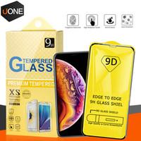 9D 전체 커버 패키지 아이폰 (12) 프로 맥스 삼성 A30 A40 A40S A50 A60 A70 S A80 M10 Jean2 와이드 4 화면 보호를위한 강화 유리