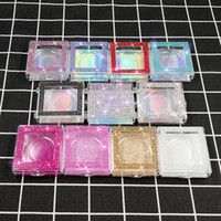 3D المنك الرموش الماس حزمة صناديق الرموش الصناعية ساحة التغليف الخالي رمش حالة صندوق جلدة مربع التعبئة والتغليف 32styles RRA3053