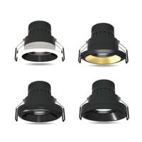 Blanc Noir Sliver Bague en or changeable de 7W LED Downlight Accent Lighting COB 15 24 36 Lumière Coupe Angle