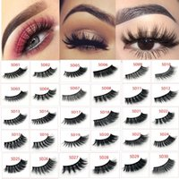 5D Mink Lashes Soft Mink Hair False Eyelashes Thick Long Wis...