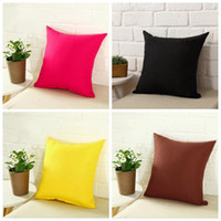 Pillowcase Pure Color Polyester White Pillow Cover Cushion Cover Decor Pillow Case Blank Christmas Decor Gift 45 * 45CM CFYZ336Q