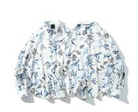 도매 mens 디자이너 티셔츠 Mens Autumn Shirts 2019 긴 소매 슬림 피트 드레스 셔츠 캐주얼 싱글 브레스트 셔츠 프린트 동물