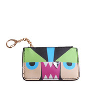 New 2019 Design Mini Monster Pu Leather Coin Purses Wallets ...