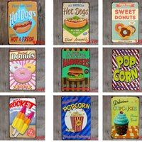 40 DesigVintage Retro Metal Sign Poster Cupcake Ice Cream Ha...