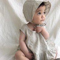 MILANCEL 2020 Babykleidung stellt elegant embrodiery Baby-Kleidung Kleinkind-Mädchen-Ausstattung Weste und Shorts mit Hut 3 Stück Set