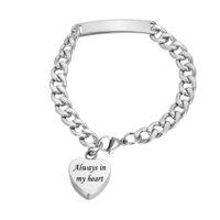 Personalisierte Gravur Feuerbestattung Schmuck Asche Armband Urn Anhänger Memorial Ash Andenken Armband Charms Geschenke für Mädchen