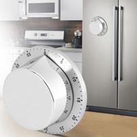 Minuterie de cuisine en acier inoxydable avec base magnétique manuel mécanique minuterie de cuisson à rebours outils de cuisine gadgets de cuisine