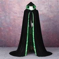 2020 New Cheap Unisex Adult Velvet Wedding Bridal Hooded Cape Long Cloak Wedding Accessories Halloween Costume bride Wedding Velvet