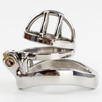 Супер Малый Мужской Целомудрие устройство из нержавеющей стали Co Ca с 40/45 / 50ммом Penis Ring Болл Носилки Пол кольцо для мужчин 4см Длины