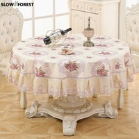 Slow Forest Round Tablecloth Living Room Tablecloth Pastoral...