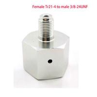 Paintball Sodastream Botella Tanque Cilindro adaptador convertidor Tr21-4 hembra a 3 / 8-24UNF macho, para elaboración casera