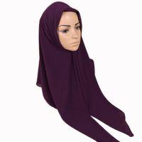 38 الألوان الشيفون طرحة جديد للعادي يلف على الموضة للنساء مسلم حجاب ساحة كبيرة لينة الإسلامية رئيس وشاح