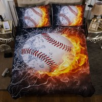 3D Printing Flame Baseball for Boy Bed Linens 2 3 Pcs Beddin...