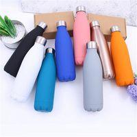 Outdoor-Wasserflasche Radfahren Camping Sport-Edelstahl-Flasche Wasser 500ml Coke Wasser Bowling Flaschen 8 Farben