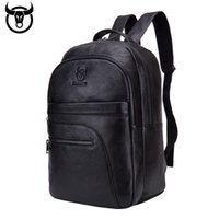 Captain Cattle Leather Goods Men' s Backpack Large Capac...