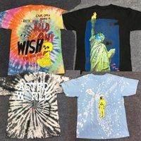 Travis Scott T-shirt1 Travis Scott Camiseta Anstronaut Astroworld Posto Laço tingimento Camiseta Homens Streetwear camuflagem dos homens de Mulheres