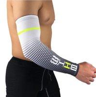 Ice Silk Arm Sleeves kühlen Mann-Sport Radfahren Laufen Fahrrad UV Sonnenschutzmanschette Abdeckung Schutz Arm Hülsen-Fahrrad-Arm-Wärmer Sleeves