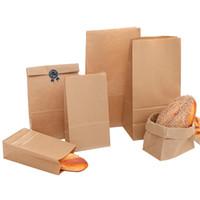 Borse sacchetto regalo Kraft Brown Carta di cottura di imballaggio alimentare Biscotti del pane biscotto Nuts cottura della confezione Borse