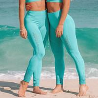 Mulheres novas impecável malha collants ginásio de cintura alta leggings sem costura ilhós de malha de fitness yoga calças menina esporte leggings