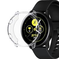 Estuche protector para Samsung Galaxy Active Watch Plating + TPU Protección Funda de silicona Protector de pantalla completa 91020