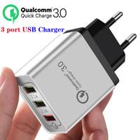 3A 급속 충전 QC 3.0 빠른 3 USB 전화 충전기 여행 벽 어댑터 아이폰 11 8 7 XR 샤오 미 삼성 화웨이 휴대 전화를 충전