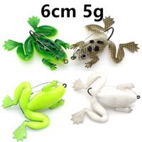 6cm 5g 개구리 낚시 후크 낚시 바늘 단일 후크 낚시 미끼 부드러운 미끼 미끼 PESCA 낚시 액세서리 Wholesale_5 태클