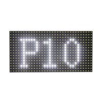 Envío libre al aire libre p10 smd color blanco led módulo de signo de desplazamiento 320 * 160mm para pantalla de texto LED
